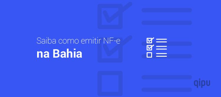 Como emitir NF-e na Bahia?