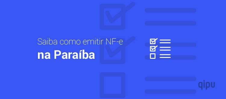 Como emitir NF-e na Paraíba?