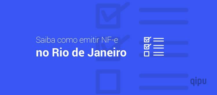 Como emitir NF-e no Rio de Janeiro?