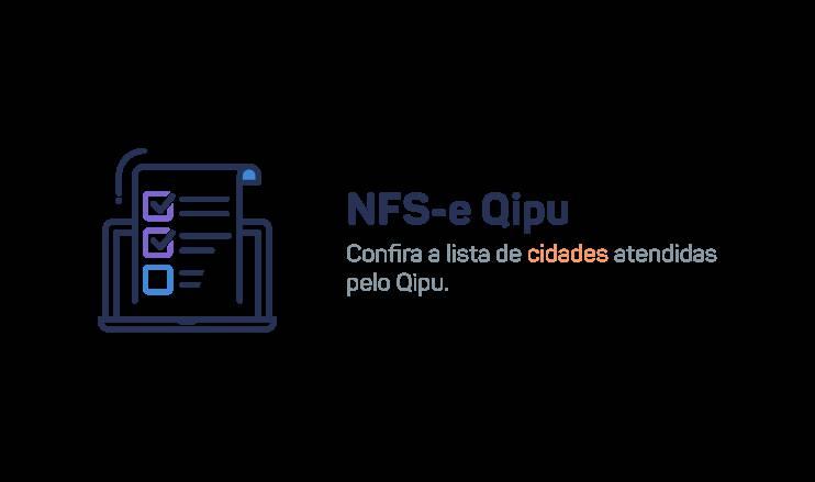 Cidades atendidas pelo sistema de emissão de NFS-e do Qipu